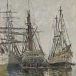 Monet's 'Boats in a Harbour'